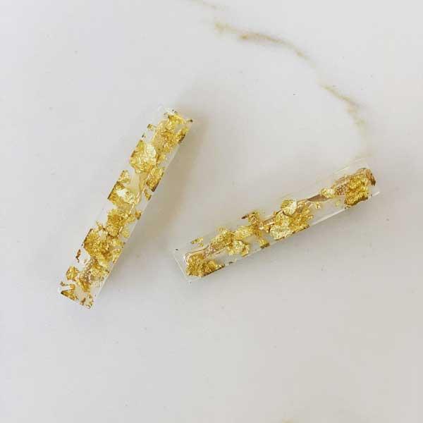 Cleo Clip Set Gold Foil