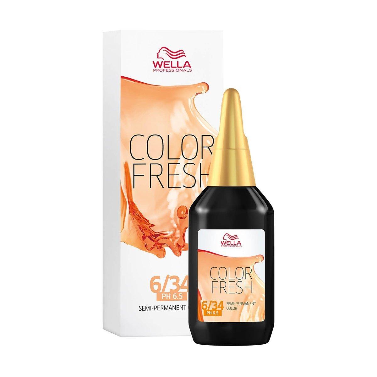 Wella Dark Blonde Gold Red 6/34