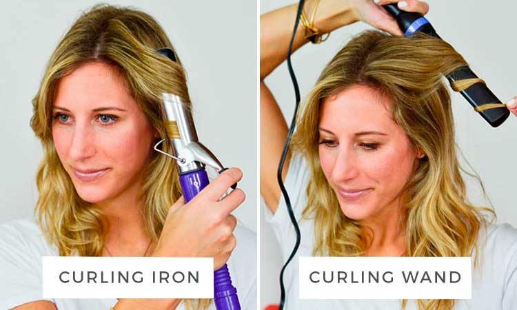 curly hair tips   curling iron or wand