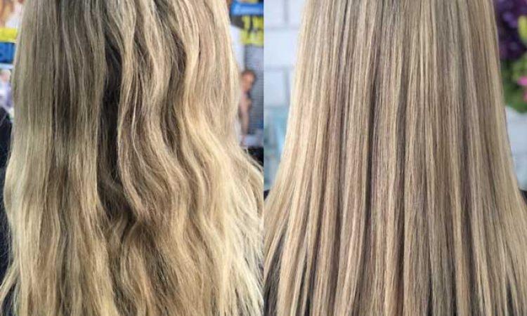 frizzy hair   keratin smoothing treatment